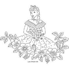 Pattern Detail   Belle with Wild Roses   Needlecrafter