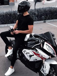Bike Style, Motorcycle Style, Biker Photoshoot, Biker Photography, Bad Boy Aesthetic, Bmw S1000rr, Cute Teenage Boys, Biker Girl, Sport Bikes