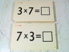 Retro Old School Multiplication Flash Cards by DivineOrders, $17.00