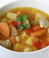 Vegetable Soup: hot broth-based veggie soup fills you up in a hurry with minimal calories