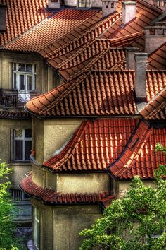 Houses in Podolí, Prague, Czechia #Prague #Czechia #VisitCzechia