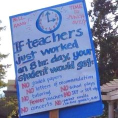 If teachers only worked 8 hours...