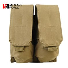 Tactical Military Molle M4 Double Magazine Pouch Hunting Airsoft Vest Belt For Two 5.56 Gun Rifle Holsters Magazines Bag Pack