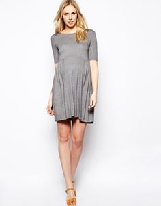 Image 4 ofASOS Maternity Smock Dress With Ruched Side