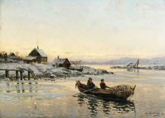 Frithjof Smith-Hald (1846-1903): Til lands med fangsten, 1892