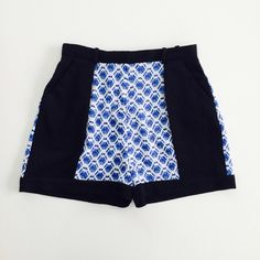 """⭐️HP⭐️Peter Pilotto for Target shorts High waisted cloqué shorts in blue netting print. 100% polyester. Size 6. Waist 14.5"""", length 16.5"""". NEW WITH TAGS. Peter Pilotto for Target Dresses"""
