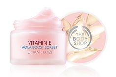 Moisturizers That Won't Drive Your Skin Crazy This Summer #refinery29  http://www.refinery29.com/gel-creams#slide5  The Body Shop Vitamin E Aqua Boost Sorbet, $20, available at The Body Shop.