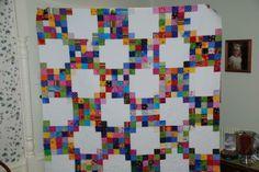 irish chain quilt block free pattern | just love irish chains i made this one on a retreat last fall i ...