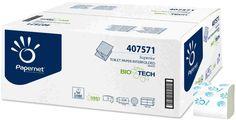Papernet Superior hartie igienica pliata biodegradabila, celuloza, 2 straturi, tehnologie Biotech.
