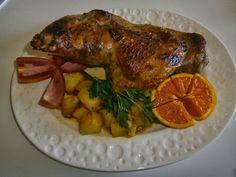 AMarte à mesa: Perna de Peru com Laranja
