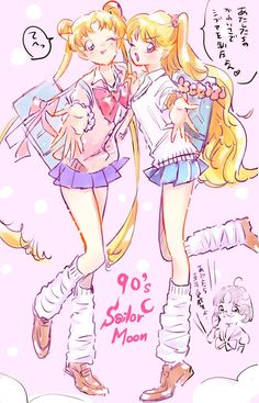 Usagi and Minako Sailor Moon Crystal, Sailor Moon Stars, Sailor Moon Fan Art, Sailor Moon Character, Sailor Venus, Sailor Mars, Sailor Moon Personajes, Manga Anime, Sailor Moon Aesthetic