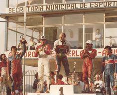 Competições de Moto: Pódium Interlagos com Tuco e Marco Greco – idos de 1984 – Acervo Lucílio Baumer / Motostory Motorbikes