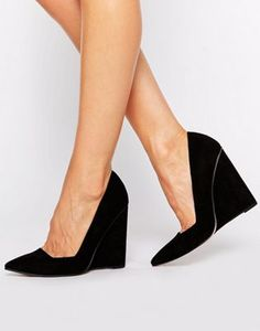 ASOS PULSE Pointed Wedges. Black heeled shoes!