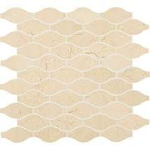 Stone Mosaics | Natural Stone.  Crema Marfil Classico 3 x 1 1/2 Marquise Mosaic Polished M722