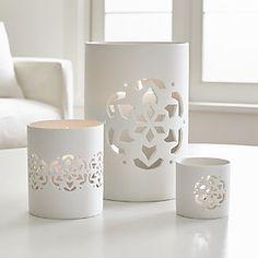 Snowflake Extra Large Porcelain Hurricane