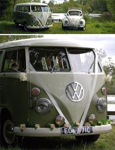 If you're looking for beach wedding ideas, consider hiring a car from VW Weddings – you can hire the beach styled, sea blue Malibu vehicle. If you want to make a bigger impact, go for the red Mango with a cool Orla Kiely interior. Wedding Car Decorations, Wedding Cars, Wedding Ideas, Vw Camper, Vw Bus, Kombi Interior, Wedding Transportation, Travel Couple, Orla Kiely