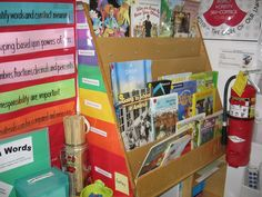 Ideas and photos for organizing a classroom library and giving students ownership over the books!