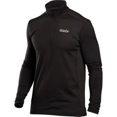 Some mornings are too cold for warm-ups on the cross country track without the Swix Men's Myrene Midlayer Fleece Pullover. Made entirely of stretchy microfleece, the Myrene excels in mobility, moisture management, and quick-drying comfort to keep you comfy even after you start to sweat. Microfleece is also softer and more packable than standard layers, so you can shed a layer halfway through your warm-up lap.