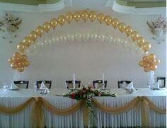 Wedding Backdrop Decorations | ... Balloons / Balloon Arches / Wedding Reception Party Decorations