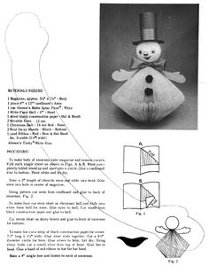 How To:  Reader's Digest Snowman or Mr. & Mrs. Santa    I remember making these in elementary school!!!!