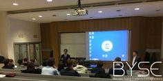 Il discorso di apertura di Leonardo Etro, docente dell'Università Bocconi, al secondo pitch di byse (Bocconi Young Students Entrepreneurs)