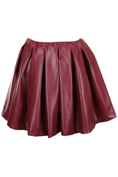 #Romwe Dark Red Pleated Bubble Skirt