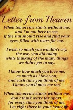 Mom, each time I find myself missing you I realize how lucky I am to have so many memories to hold in my heart because of you. I love you.......forever, for always I promise.
