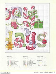 Cross-stitch Happy Holidays, part 2 with the color chart...   Радикал-Фото :: Увеличенное изображение