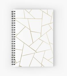 """""""Rose Gold White Geometric Glam Spiral Notebooks by anitabellajantz Cute Spiral Notebooks, Cute Notebooks For School, Spiral Notebook Covers, Notebook Cover Design, Diy Notebook Cover For School, Bullet Journal Notebook, Bullet Journal Ideas Pages, Diy Exercise Books, Cute Journals"""