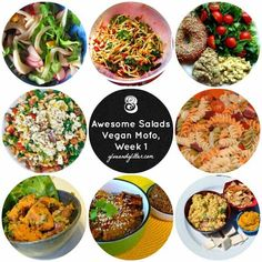 8 Awesome Salad Recipes From Week 1 of Vegan MoFo