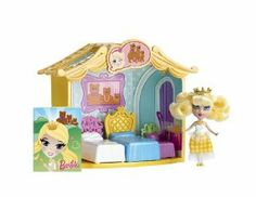 Barbie Peekaboo Petites Storytime Goldilocks Room Doll by Mattel. $15.35. Also a doll-sized storybook for girls to play along. Peekaboo Petites Storytime Goldilocks Room. Includes one fairytale doll. Perfect addition to your Peekaboo Petites collection. Room includes themed accessories. From the Manufacturer                Set the scene of the favorite fairytale Goldilocks with this enchanting room and the storybook doll. Room includes accessories, a doll, and a doll-sized story...