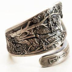 Vintage Yosemite Souvenir Sterling Silver Spoon Ring by Spoonier, $52.00