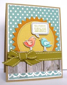 Good Morning Sunshine Card by Kerri Michaud #Cardmaking