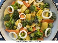 Vegetable meal ready for cooking - stock photo