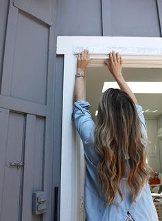 I came up with the perfect solution using VELCRO® Brand Industrial Strength Tape so my screen lays flat, stays perfectly secure and can still be removed! Woodworking Lessons, Diy Screen Door, French Doors, Diys, Easy Diy, Backyard Ideas, Screens, Balcony, Outdoor Decor