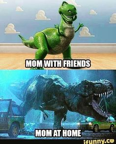 My daughter posted this with my name. Maybe I should stop saying I have T-Rex arms! #trex #dinomom @jujubeeee28