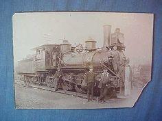 Erie Railroad Steam Locomotive Engine 1260 Meadville PA Photo 1880