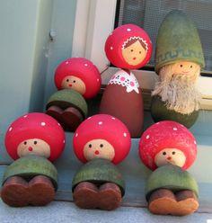 WOOD CARVING CHRISTMAS ORNAMENTS SWEDEN - Mid Century Wooden Swedish Bo Svensk? | eBay