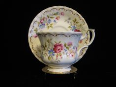 Footed Cup & Saucer Set in Jubilee Rose by Royal Albert by SharriesLOVECOMFORTS on Etsy Vintage Crockery, Vintage Tea, Small Rose, Sale Sale, Cup And Saucer Set, Royal Albert, Floral Bouquets, Tea Cups, English