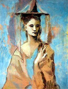 """Mujer de Mallorca"" - Pablo Picasso (Málaga, Spain, 1881 - Moulins, France, 1973)."