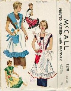 Vintage 50s Apron Patterns
