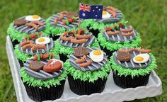 Happy Australia Day > Food Porn Barbie Cupcakes, Mini Cupcakes, Cupcake Cakes, Cup Cakes, Australia Cake, Happy Australia Day, Aus Day, Cake Decorating Icing, Australian Food