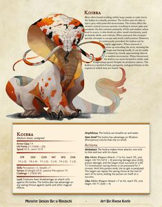 Koibra : UnearthedArcana - picture for you Mythical Creatures Art, Mythological Creatures, Magical Creatures, Dungeons And Dragons Homebrew, D&d Dungeons And Dragons, Dungeons And Dragons Characters, Monster Design, Monster Art, Creature Concept Art