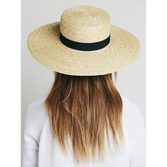 Spencer Wide Brim Boater ($78) ❤ liked on Polyvore featuring accessories, hats, wide brim straw hat, straw hat, wide brim hat, crown hat and flat hat