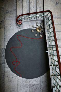 Red Thread rug by Staffan Tollgard