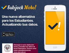 Diseño de #App -  Subject Note: Una Alternativa para los Estudiantes. Actualizando sus datos.  (Proyecto Universitario)   En Proceso... Copyright 2013 -Eduardo Carballo