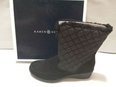 Karen Scott Lonnie Boots Booties Shoes Womens Size 6M Fashion Mid Calf Black