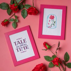 Celebrate your love for Beauty and the Beast with a cross stitch design that's perfect for any home or enchanted castle.