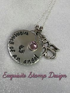 Mommy Of An Angel  Personalized  Swarovski by ExquisiteStampDesign