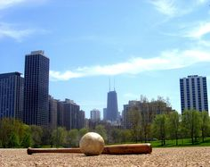 16-inch Softball | by Pablo in Chicago Evanston Chicago, Seattle Skyline, New York Skyline, Slow Pitch, Grant Park, Chicago Photos, My Kind Of Town, Softball, San Francisco Skyline